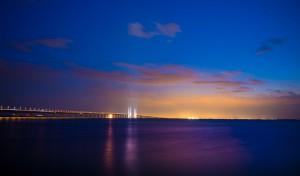 Öresundbrücke in der Nacht. janus_langhorn/imagebank.sweden.
