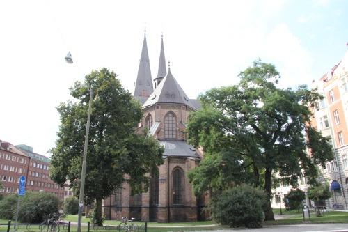 Sankt Petri Kirche in Malmö  ist mit das älteste Gebäude in Malmö und stammt noch aus dem 14. Jahrhundert.