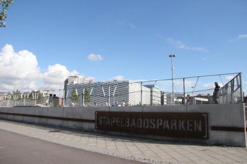 Skate und Inline-Skates Park Stapelbäddsparken.
