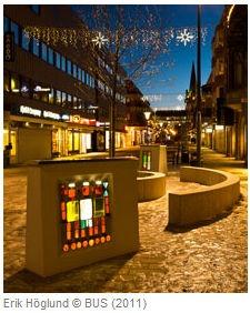 Erik Höglund´s Glassfenster von Erik Höglund. Bildquelle: Halmstad.se