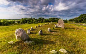 Gettlinge-Grabplatz auf der Insel Öland in Schweden