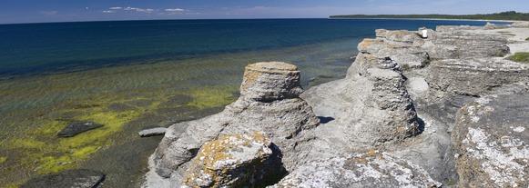 Felsnadeln in Schweden auf der Insel Öland