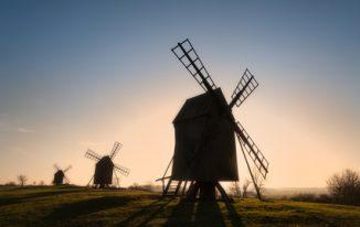 Windmühlen von Insel Öland in Sweden