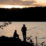 Angeln in Schweden direkt am See. Bildquelle Göran Assner/imagebank.sweden.se