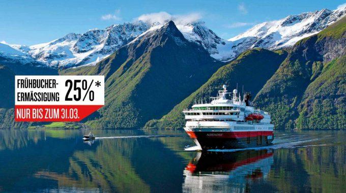 Hurtigruten 25% sparen 2017