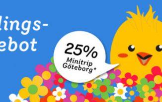 25% RABATT AUF MINITRIP GÖTEBORG
