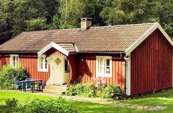 Alleinlages Ferienhaus in Westschweden Ätran Halland für 6 Personen