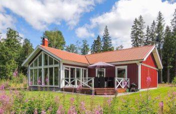 Ferienhaus in Südschweden Tingsryd Småland am See Tiken für 6 Personen
