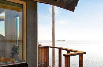 Ferienhaus in Westschweden nördlich von Göteborg mit herrlichen Meerblick in Torslanda Västergötland für 2 Personen