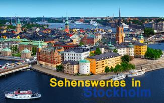 Interessante Orte und Reiseziele in Schweden Stockholm