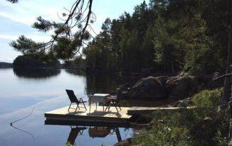 Ferienhaus in Schweden mit Boot direkt am See