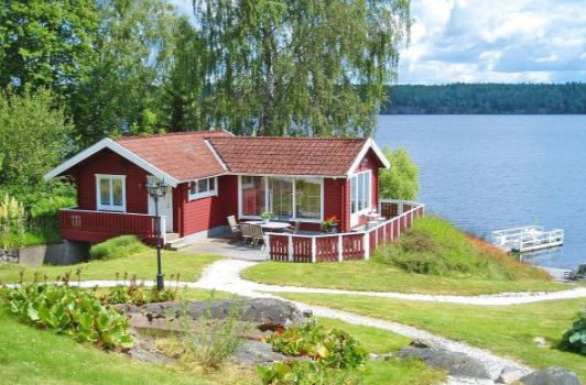 Ferienhaus am See in Åmmeberg Vättern in Schweden für max. 2 Personen