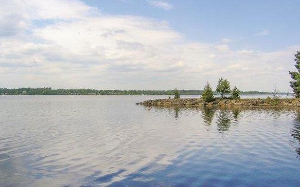 Bolmensee und Bolmsö in Småland Schweden