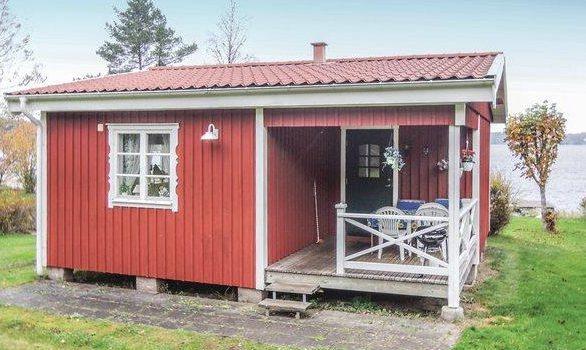 Ferienhaus in Schweden mit Boot am See