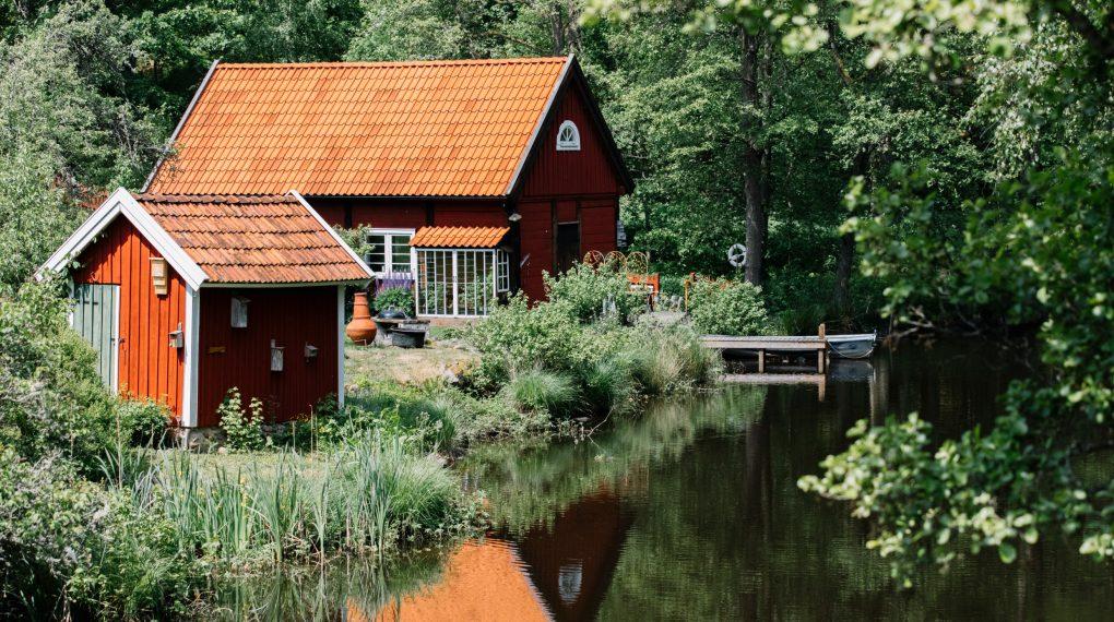 Schweden Blockhütte  am See