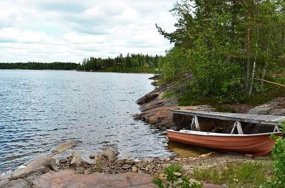 Ferienhäuser in Ångermanland in Nordmaling an der Ostküste mit Boot