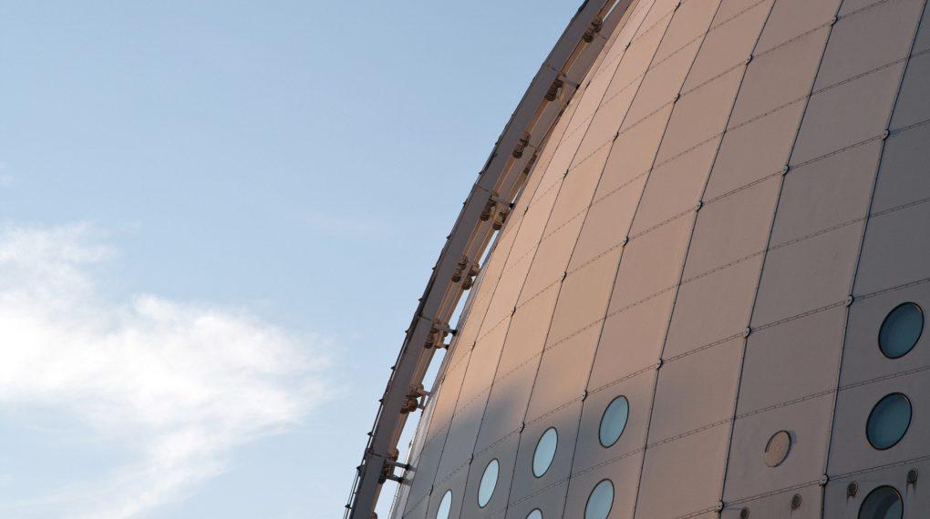 Das größte kugelförmige Gebäude der Welt  Ericsson Globe in Stockholm / Bild Tommy Andersson/imagebank.sweden.se