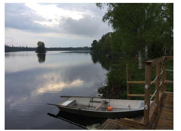 Ferienhaus Schweden direkt am See in Holmsjö mit Boot zum Angeln