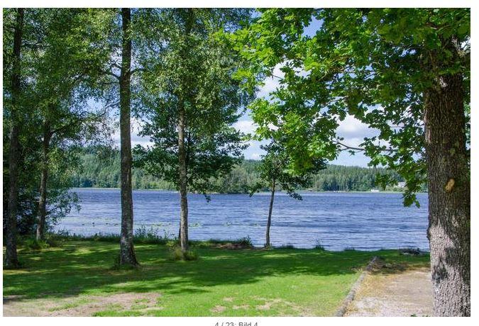 Dieses idyllisches Ferienhaus Schweden mit Hund am See in Sexdrega, Västergötland See Åsunden für max. 6 Personen