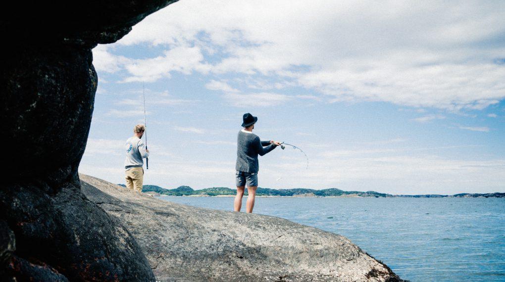 Angeln auf Insel Tjörn