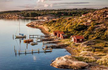 Bohuslän felsigen, kahlen Inseln und Schären