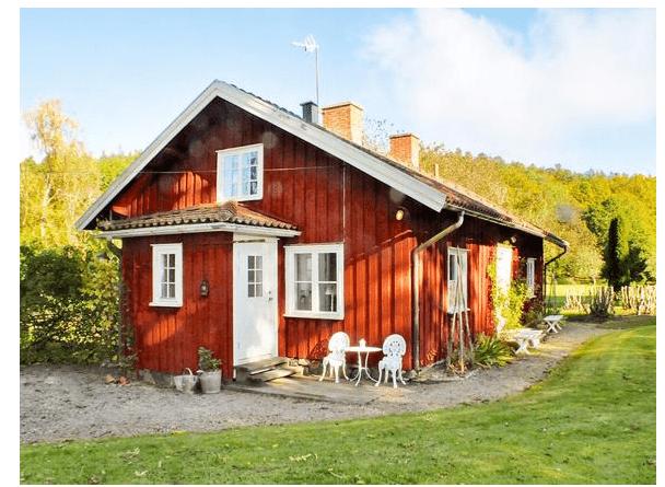 Traditionelles, rot-weißes Ferienhaus in Südschweden Vargön, Vänern, Schweden für max. 8 Personen