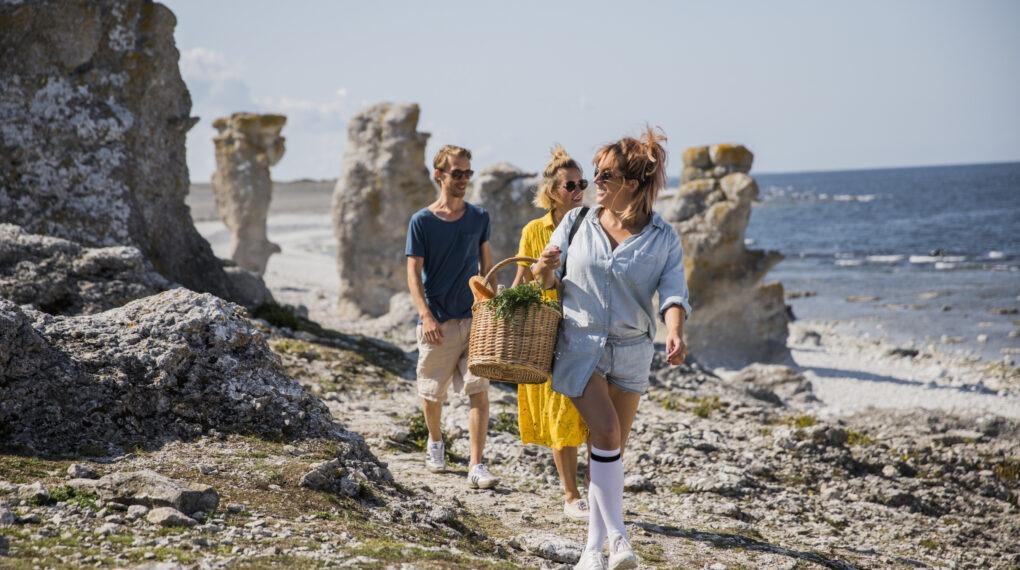 Urlaub auf der Insel Fårö, einer Insel nordöstlich von Gotland// Bildquelle: Tina Axelsson/imagebank.sweden.se